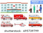 medical concept. detailed... | Shutterstock .eps vector #695739799