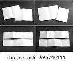 identity design  corporate...   Shutterstock . vector #695740111