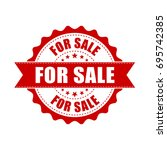 for sale grunge rubber stamp.... | Shutterstock .eps vector #695742385
