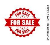 for sale grunge rubber stamp.... | Shutterstock .eps vector #695742385