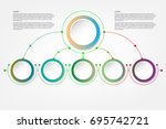 infographic template  circle... | Shutterstock .eps vector #695742721
