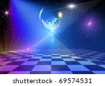 Dancing Floor With Mirror Ball...