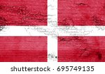 sovereign military flag with... | Shutterstock . vector #695749135