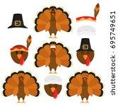 Thanksgiving Turkeys In White...