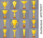 Winner Trophy Gold Cups Flat...