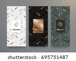 vector set packaging templates... | Shutterstock .eps vector #695751487