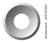 round shape from concentric... | Shutterstock .eps vector #695752501