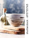hand crafted chinese bowl | Shutterstock . vector #695755765