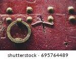 antique doorbell.   Shutterstock . vector #695764489