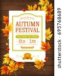 autumn festival. fall party... | Shutterstock .eps vector #695768689