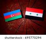 azerbaijan flag with syrian... | Shutterstock . vector #695770294