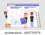 web design and development.... | Shutterstock .eps vector #695770579