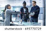 multi ethnic team of young... | Shutterstock . vector #695770729