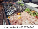 variety of freshwater and... | Shutterstock . vector #695776765