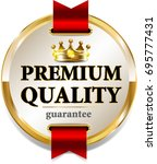premium quality banner with... | Shutterstock . vector #695777431