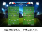 football or soccer playing... | Shutterstock .eps vector #695781421