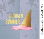 vector goodbye summer vector... | Shutterstock .eps vector #695783725