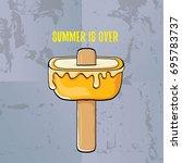 vector goodbye summer vector... | Shutterstock .eps vector #695783737