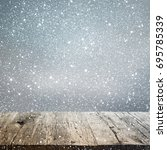 abstract winter background with ... | Shutterstock . vector #695785339