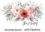 flower bouquet | Shutterstock . vector #695786941
