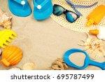summer concept    Shutterstock . vector #695787499