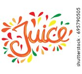 hand written lettering word...   Shutterstock .eps vector #695790505