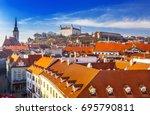 bratislava castle st martins...   Shutterstock . vector #695790811