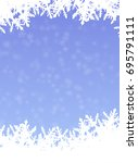 snowflake background in cover... | Shutterstock .eps vector #695791111