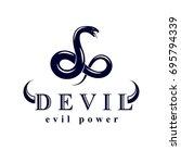 vector snake symbol created in...   Shutterstock .eps vector #695794339