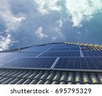 solar panel photovoltaic...   Shutterstock . vector #695795329