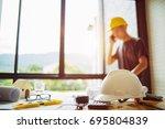 business engineer contractor... | Shutterstock . vector #695804839