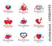 heart shapes composed using... | Shutterstock .eps vector #695804995