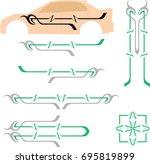 vehicle graphics  stripe  ...   Shutterstock .eps vector #695819899