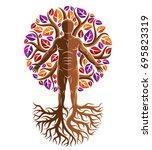 vector graphic illustration of... | Shutterstock .eps vector #695823319