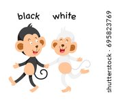 opposite black and white vector ...   Shutterstock .eps vector #695823769