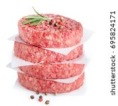 raw meat for making  burger... | Shutterstock . vector #695824171