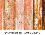 old rusty metal fence as an... | Shutterstock . vector #695825347