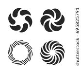 vortex icons set. spiral and... | Shutterstock .eps vector #695825791