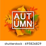 fall sale background design... | Shutterstock .eps vector #695826829
