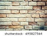 old red brick wall textures and ... | Shutterstock . vector #695827564