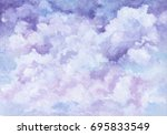romantic sky and clouds in... | Shutterstock . vector #695833549