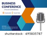 business conference invitation... | Shutterstock .eps vector #695835787