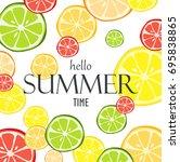 citrus fruit white background  | Shutterstock .eps vector #695838865