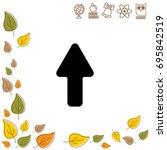 web line icon. arrow up   Shutterstock .eps vector #695842519