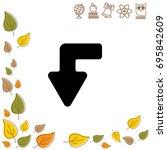 web line icon. arrow left down   Shutterstock .eps vector #695842609