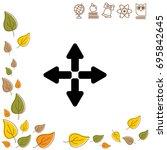 web line icon. arrows  left ...   Shutterstock .eps vector #695842645
