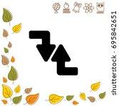 web line icon. arrows  right...   Shutterstock .eps vector #695842651