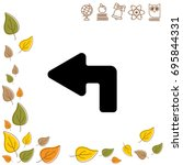 web line icon. arrow up left   Shutterstock .eps vector #695844331