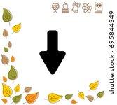 web line icon. arrow down   Shutterstock .eps vector #695844349