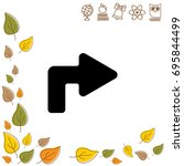 web line icon. arrow turning...   Shutterstock .eps vector #695844499
